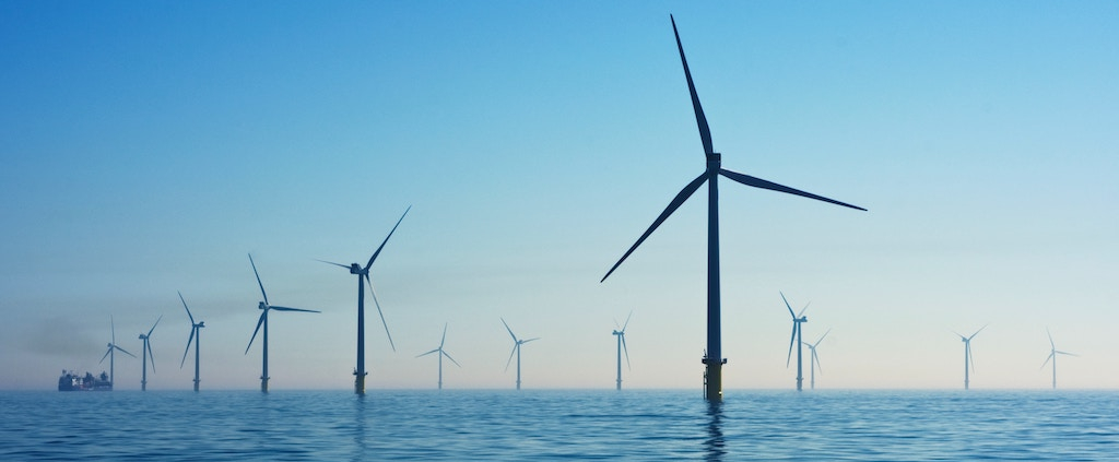 View of offshore wind farms
