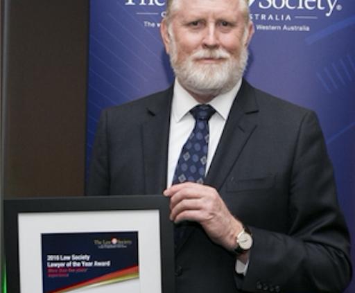 Man holding certificate