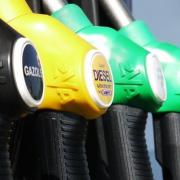 petrol station fuel nozzles