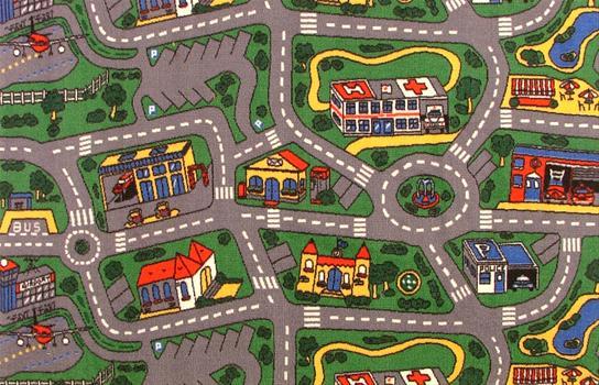 children's city road carpet