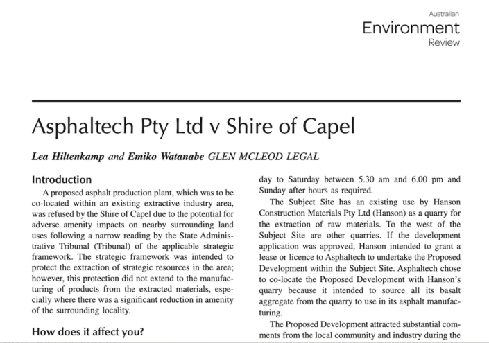 Screenshot of the first page of the case summary article.